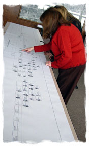 viewing a printed family tree