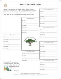 Free Blank Genealogy Genealogy Charts
